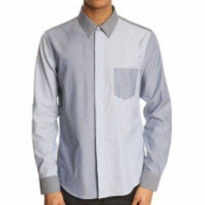 ACNE STUDIOS Viktor Block Mix BLUE Dress SHIRT